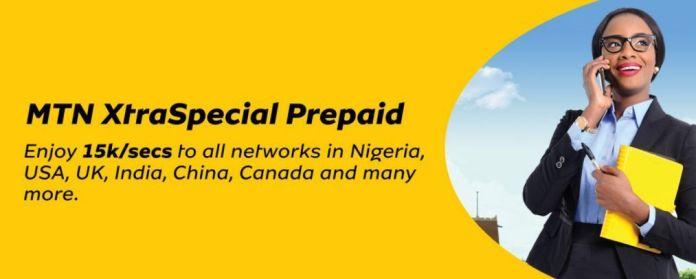 MTN XtraSpecial Prepaid Tariff Plan