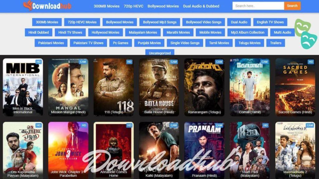 Downloadhub Homepage